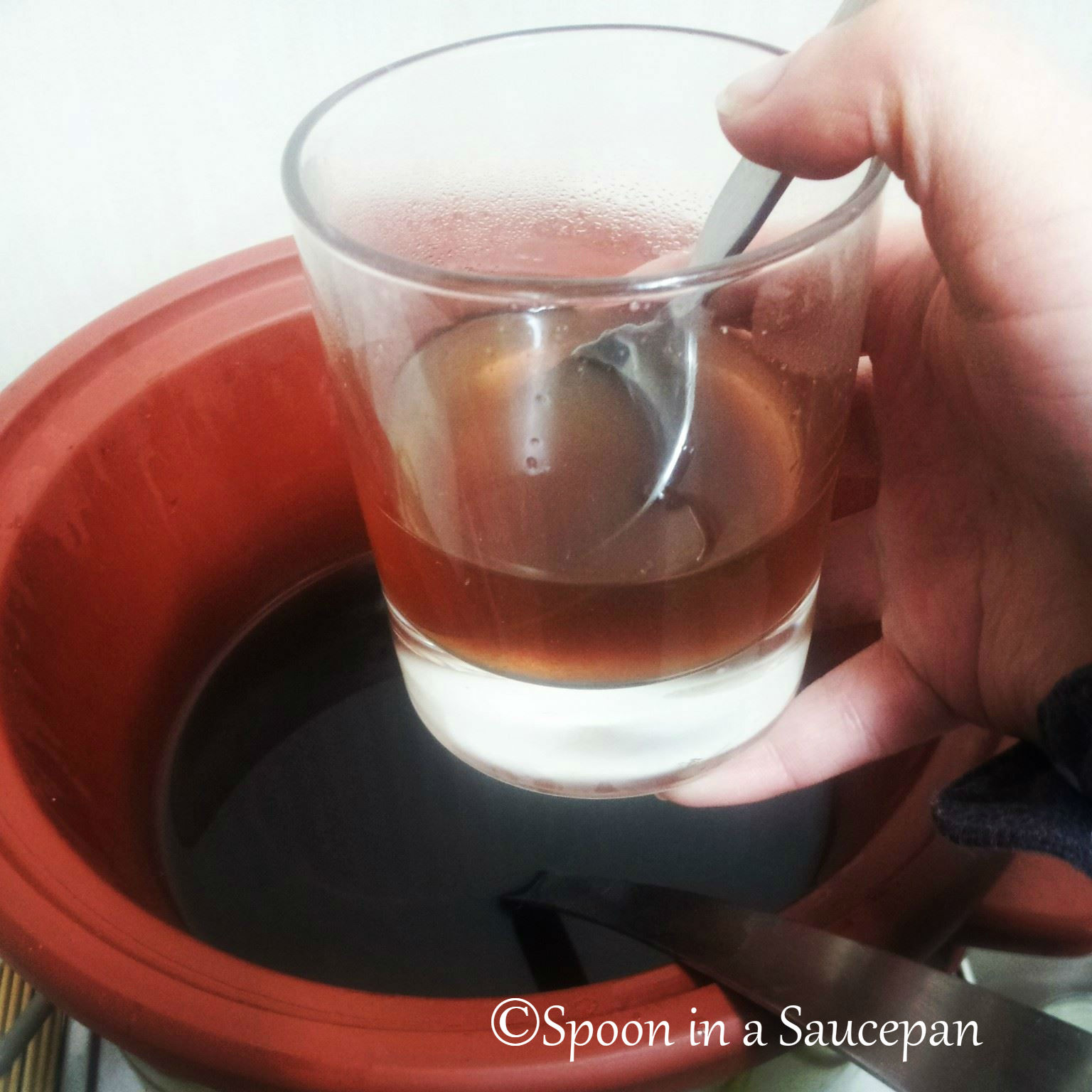 Slightly Boozy Homemade Apple Cider | Spoon in a Saucepan