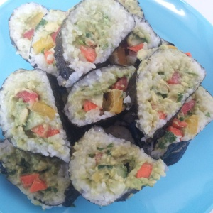 The amazing gimbap that Lucy made me.